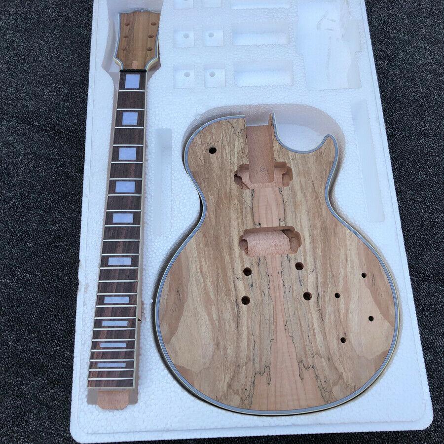 Lespaul Elektro Gitar Setleri Diken Ortak Maun Katı Vücut Splated Maple Top