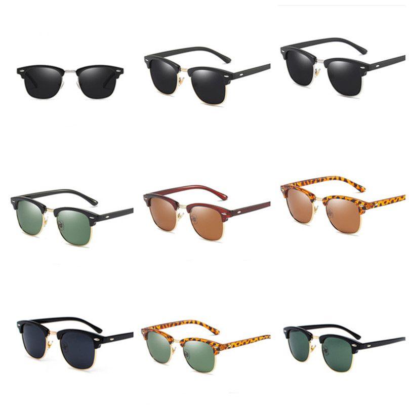 Driving Women's UV400 Óculos de Sol Polarizado Meio Frame Vidros de Verão Esportes Ao Ar Livre Pesca E22707 Golfe Ciclismo Óculos Óculos Aggi
