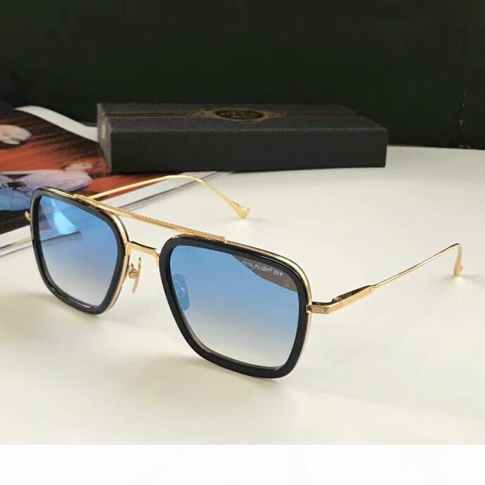 Luxary-Kare Pilot Güneş Altın Metal Gri Degrade Sonnenbrille Güneş bağbozumu gözlük Yeni wth kutusunu unisex da tek Tasarımcı Occhiali
