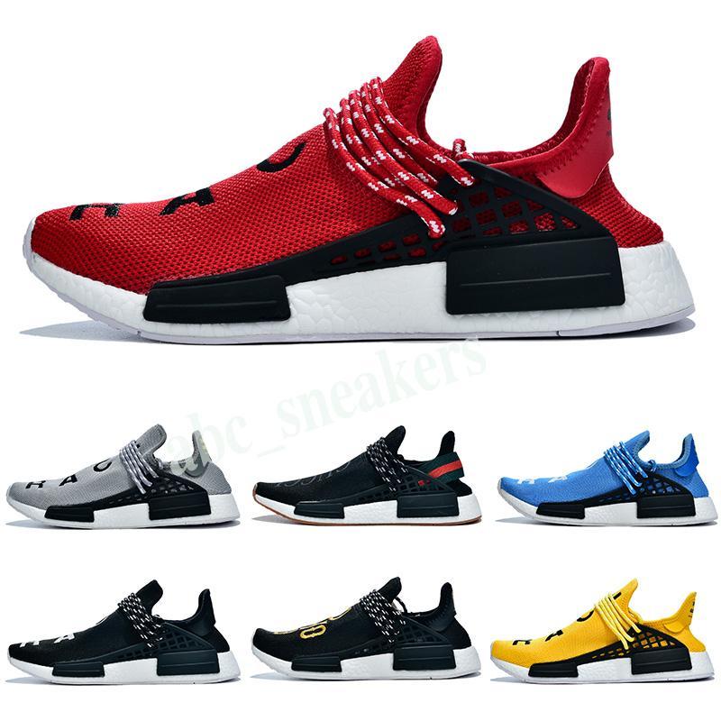 Adidas PW HU Holi NMD MC New Best Race humaine Pharrell Williams BBC Infinie Espèces savoir âme SUN CALM solaire HU pack Trail hommes femmes chaussures de course B03