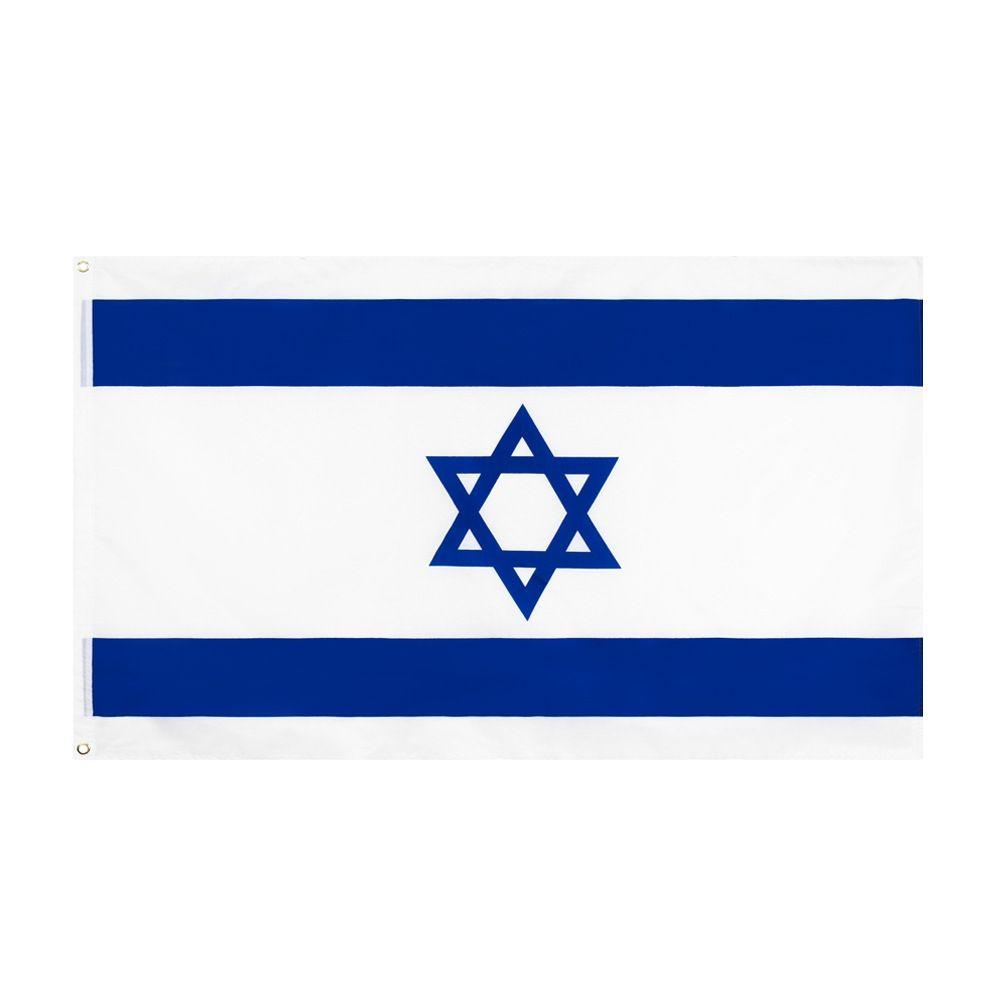 Shpping libero in nazioni Stock Flags 3x5FT 90x150cm Big ISR L'Israele Stato d'Israele bandiera della bandierina per la decorazione esterna dell'interno