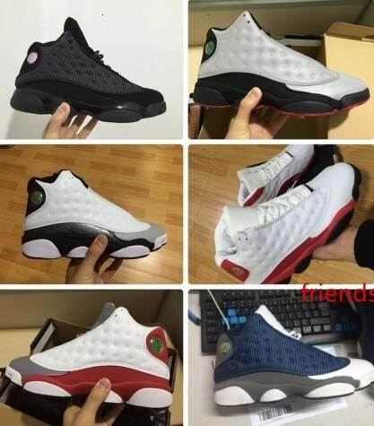 Erkekler Spor Chicago Kırmızı Siyah Kedi Fransız Mavi Boyut US5.5-13 için Traderjoes 13S Erkek ve Bayan Basketbol Ayakkabıları Spor ayakkabılar