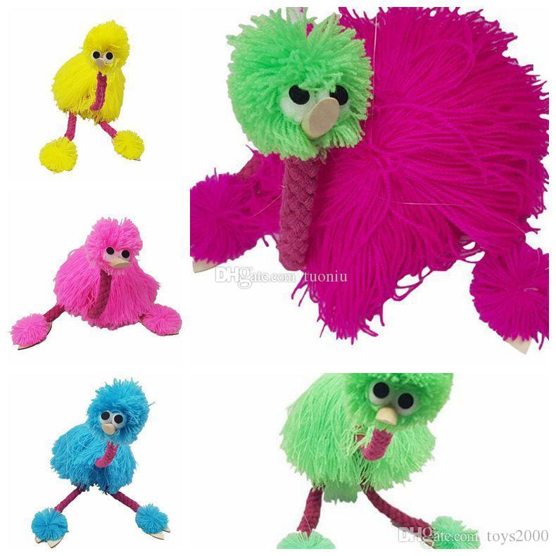 New arrival 5 Colors 36cm Decompression Toy Marionette Doll Muppets Animal Muppet Hand Puppets Toys Plush Ostrich Party Favor
