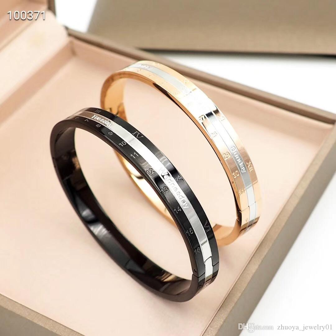 luxury designer jewelry men bracelets stainless steel calendar bracelet fashion bracelet love bangle women luxury jewelry bangles 2020
