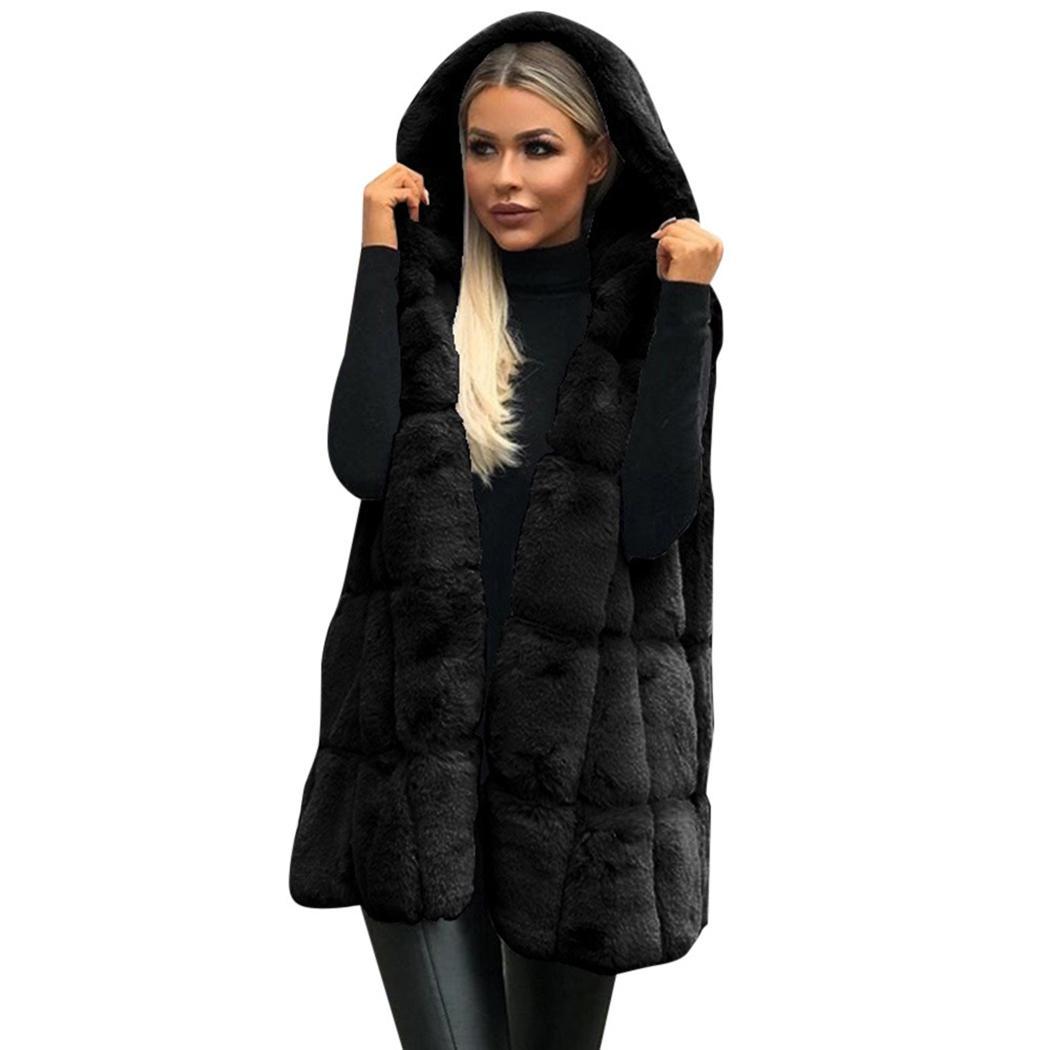 U-shot Ladys Sleeveless Shrug Faux Fur Casual Gilet Vest Coat Top Outwear