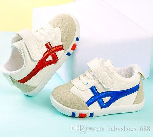 Autumn bebê recém-nascido Sports Primeira Caminhada da criança anti-derrapante sapatos macios da forma Meninas Meninos Running Shoes