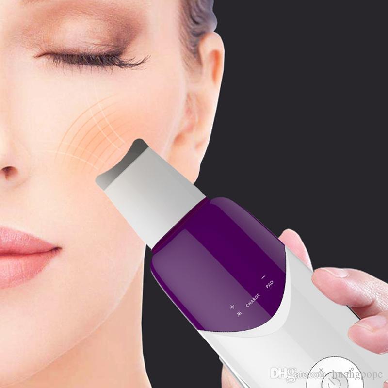 Elektrisches Gesicht Exfoliator Ultraschall-Ionengesichtsreiniger-Hautwäscher tief saubere Gesichtshaut-Peeling-Instrument-tragbare Schönheits-Ausrüstung