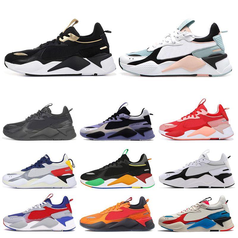 PUMA RS-X Toys Novo RS-X Mens Tênis de Corrida Legal Preto branco Moda Trepadeiras pai Chaussures Homens Mulheres Corredor Treinador Tênis esportivos tamanho 36-45