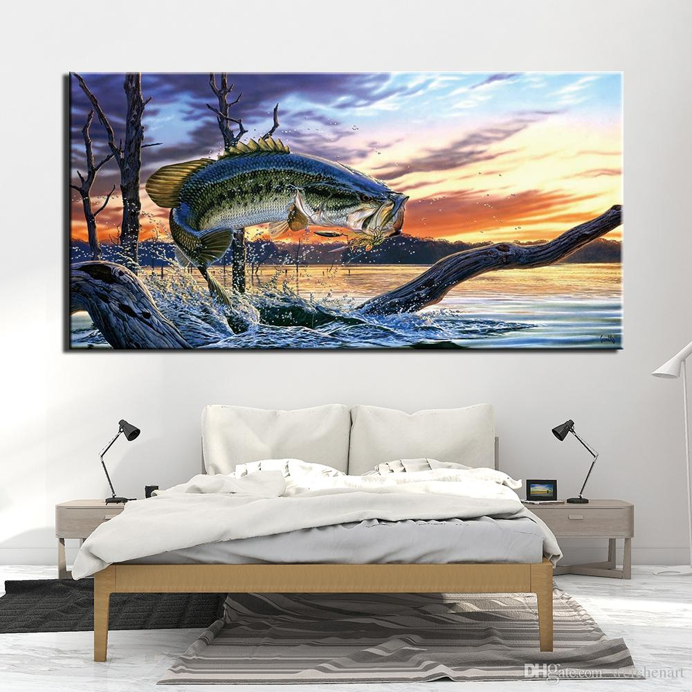 1 Pieces Canvas Photo Prints Animal fish Wall Art Picture Canvas Paintings Home Decor Wall Artwork Paintings No Frame