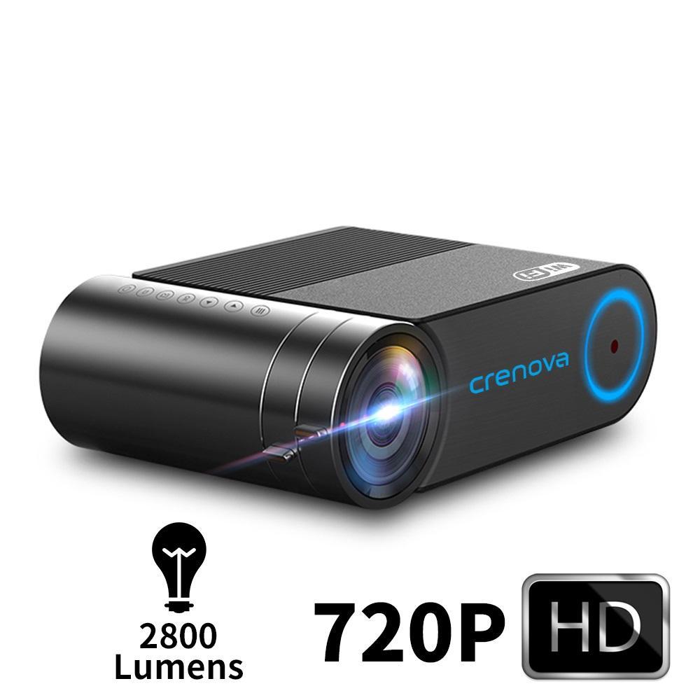 2019 mais novo HD 720p Vídeo Projector Para 1080p Wireless WiFi Multi-Screen Mini Projector 3D VGA AV HDMI Projetor