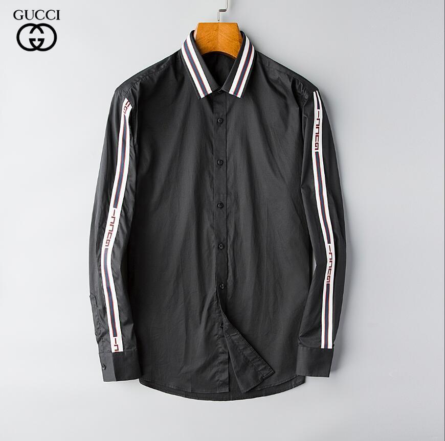Nuevos 2020 moda casual de negocios manga larga para hombre camisas Oficina Slim Fit formal de la manera formal shirt57
