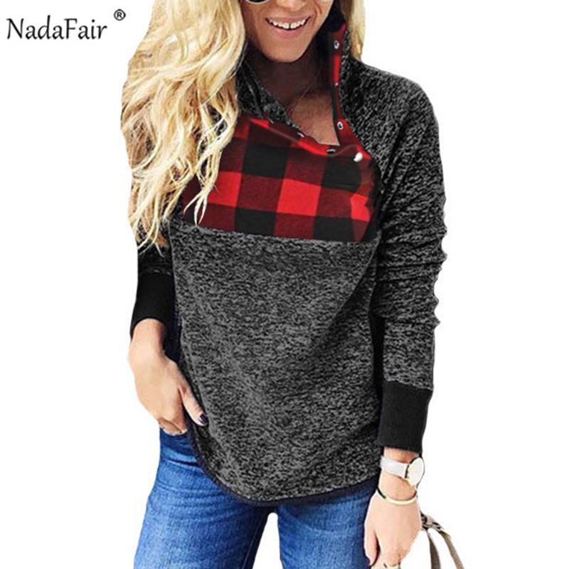 Nadafair Oversized Fleece Hoodie Women Autumn Faux Fur Patchwork Turtleneck Casual Plus Size Sweatshirt Female Winter Pullovers Y200106