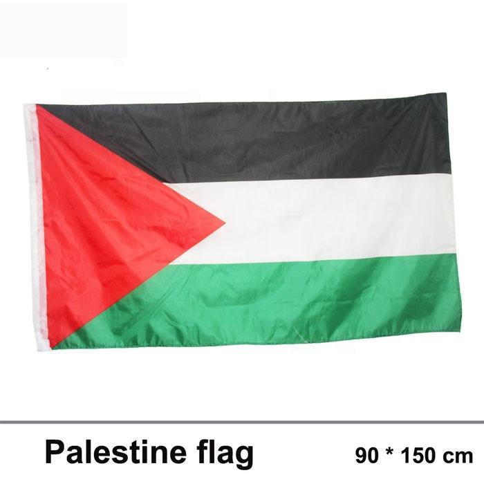 Палестинский флаг 3x5FT 150x90cm полиэстер печать Крытый Открытый Висячие горячий продавая национальный флаг с латунными креплениями Free Shippin