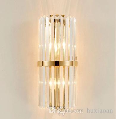Luci di cristallo postmoderni Rod LED parete camera da letto Comodino Lampade da parete Hotel Restaurant Villa Corridoio decorativa del salone