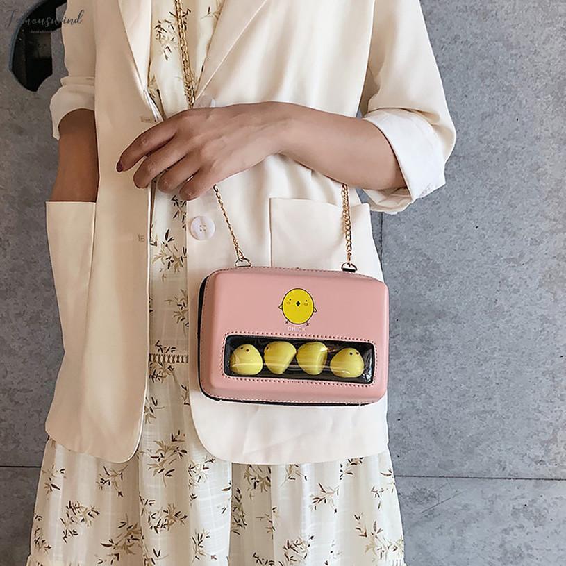 Moda 2020 Günlük Yaz Kadın Moda Şeffaf Küçük Kare Çanta Sevimli Omuz Messenger Plaj Basit Çantası
