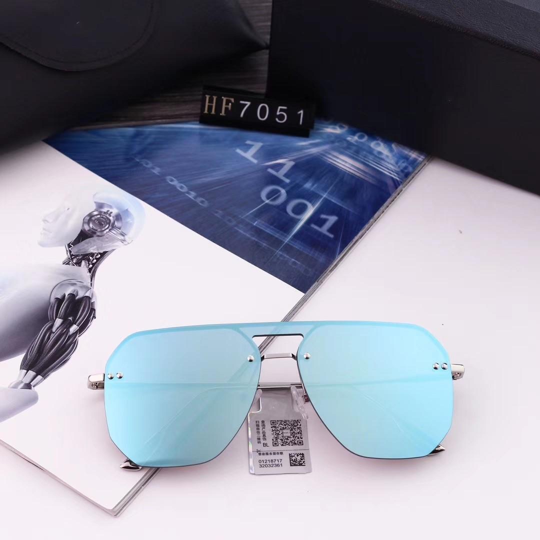 All'ingrosso-marca degli occhiali da sole-Grande Struttura Occhiali da sole per uomini e donne di guida FConnecting disegno dell'obiettivo del Polaroid ad alta definizione nylon Obiettivo 7051