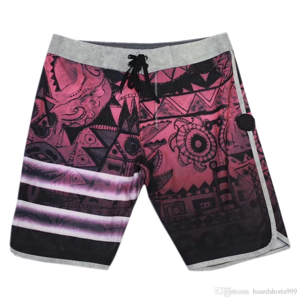 Awesome High Quality Elastane Bermudas Shorts Mens Beachshorts Board Shorts Swimming Trunks Quick Dry Surf Pants Thin Loose Leisure Shorts