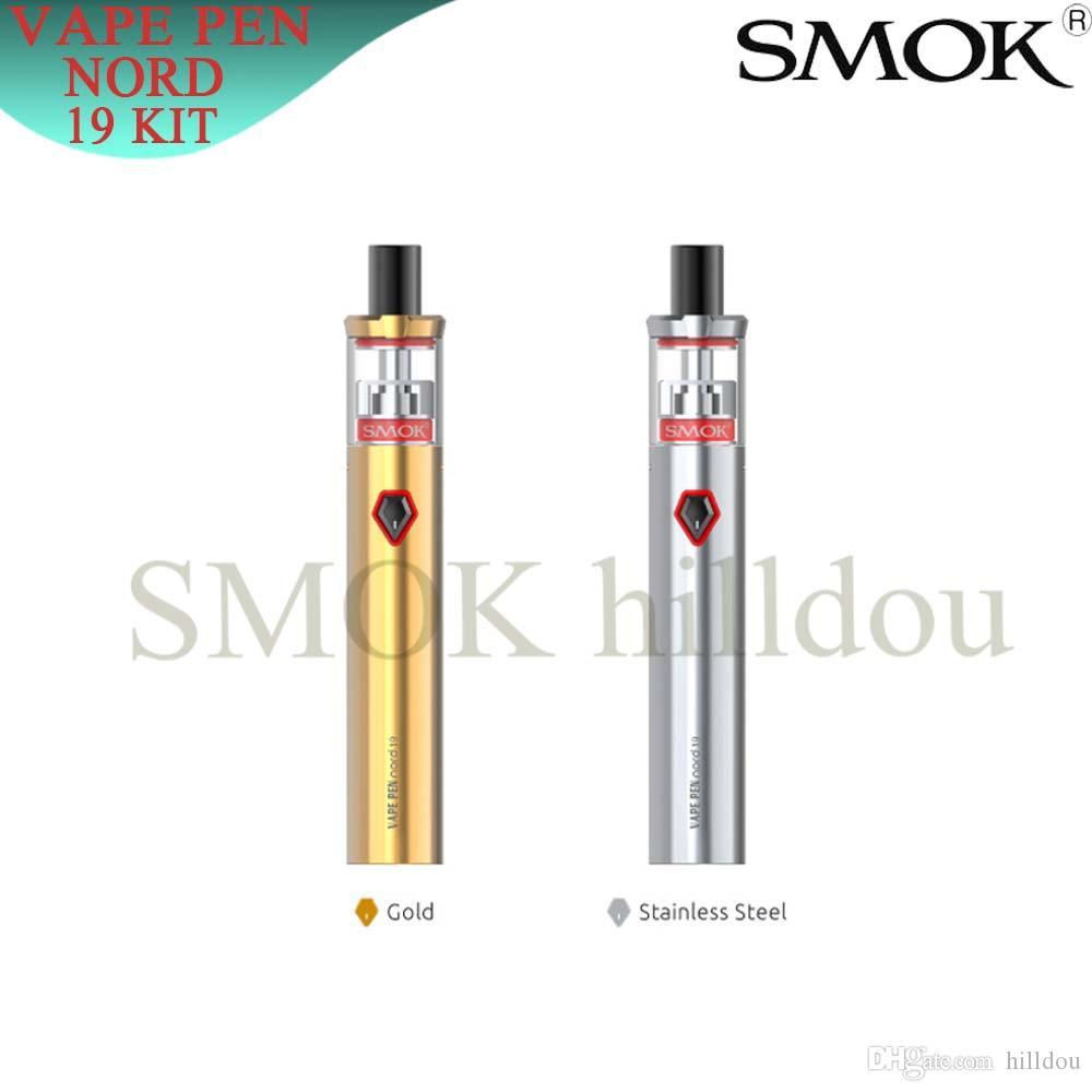 SMOK Vape Pen Nord 19 Kit with 2ml Tank Builtin 1300mAh Battery Intelligent LED Indicator Two Air Slots Balanced Airflow 100% Authentic