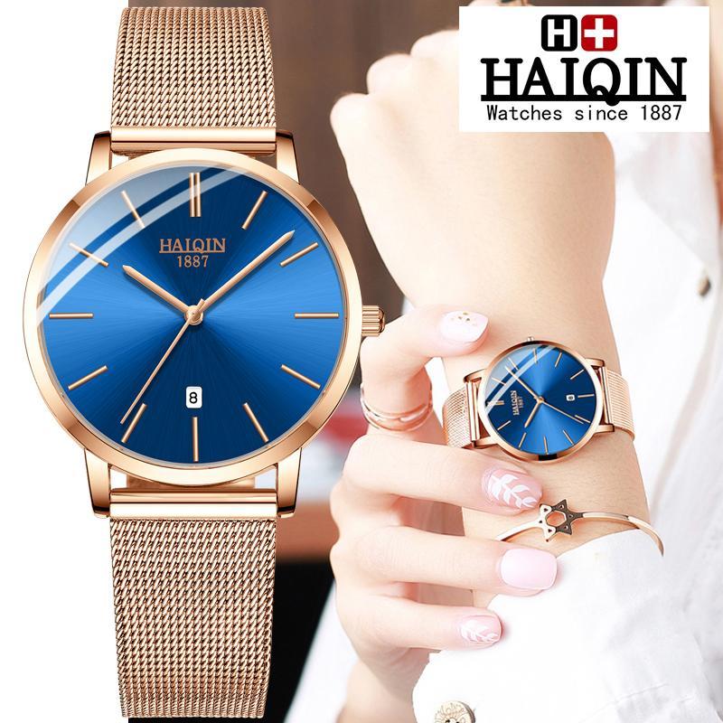 Оптовая пара Часы Quart Мужские часы Лучший бренд роскошные часы мужчины водонепроницаемые спортивные женские часы военные Relogio Masculino 2019