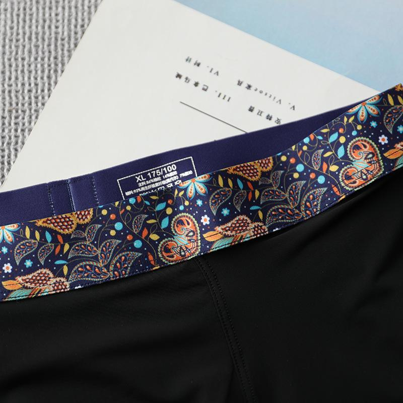 Star in the picture personalized print belt ice silk couple underwear quick drying breathable thin spring and summer mens and womens black s