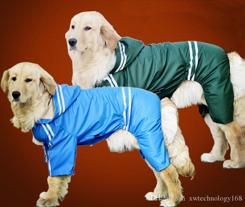 1PCS Good Quality Large Dog Raincoats Outdoor Raining Vest Lightweight Poncho Rainwear Clothes Pet Waterproof Jacket