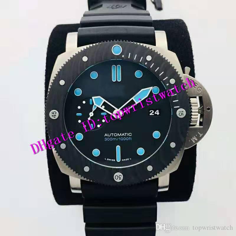 VS Pam799 titanio reloj para hombre del reloj del deporte Pam00799 P.9010 automática Carbotech zafiro bisel giratorio luminoso estupendo reloj impermeable