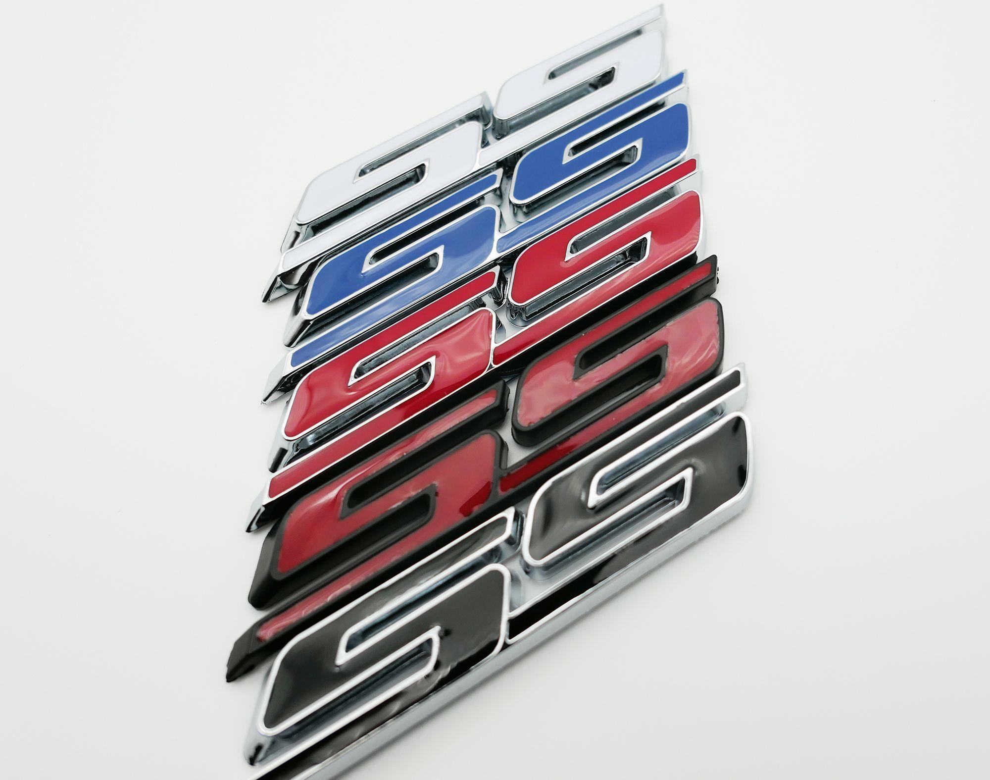 Camaro ZL1 Style Letters Badge Emblem Matte Black ABS