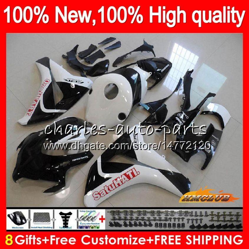OEM Körper für HONDA CBR1000 RR schwarz weiß CBR1000RR 08 09 10 11 79HC.38 CBR 1000 RR CC R 1000CC CBR 1000RR 2008 2009 2010 2011 Fairing Kit
