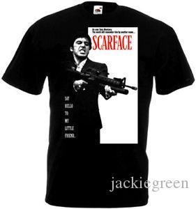 camicia SCARFACE Al Pacino Movie Poster T Nero taglie Tutte le c