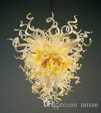 Lampade in pura vetro colorato in vetro di Murano Chandeliers personalizzato Lampada a sospensione LED Style Art Deco Chandelier