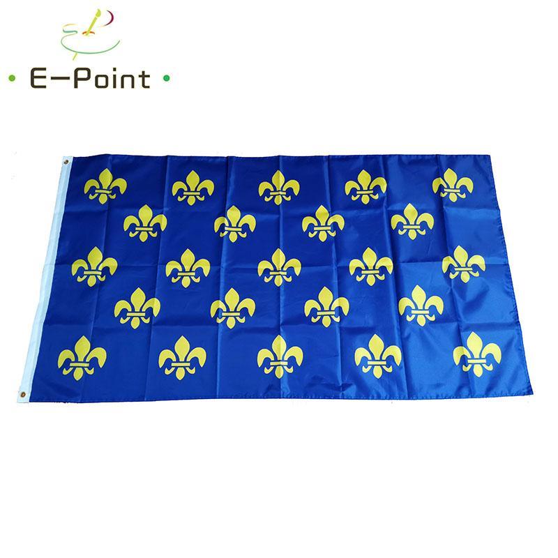 Escudo de armas Pre 1376 Bandera de 3 * 5 pies (90cm * 150cm) Poliéster indicador de la bandera de volar a casa decoración bandera jardín regalos festivos francés Real
