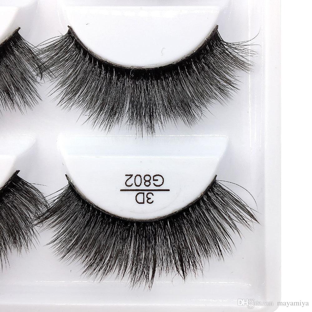 5pairs/set False EyeLashes 5 Pairs 3D Natural Long Fake Eyelashes G802 Handmade Makeup Tools Accessories DHL
