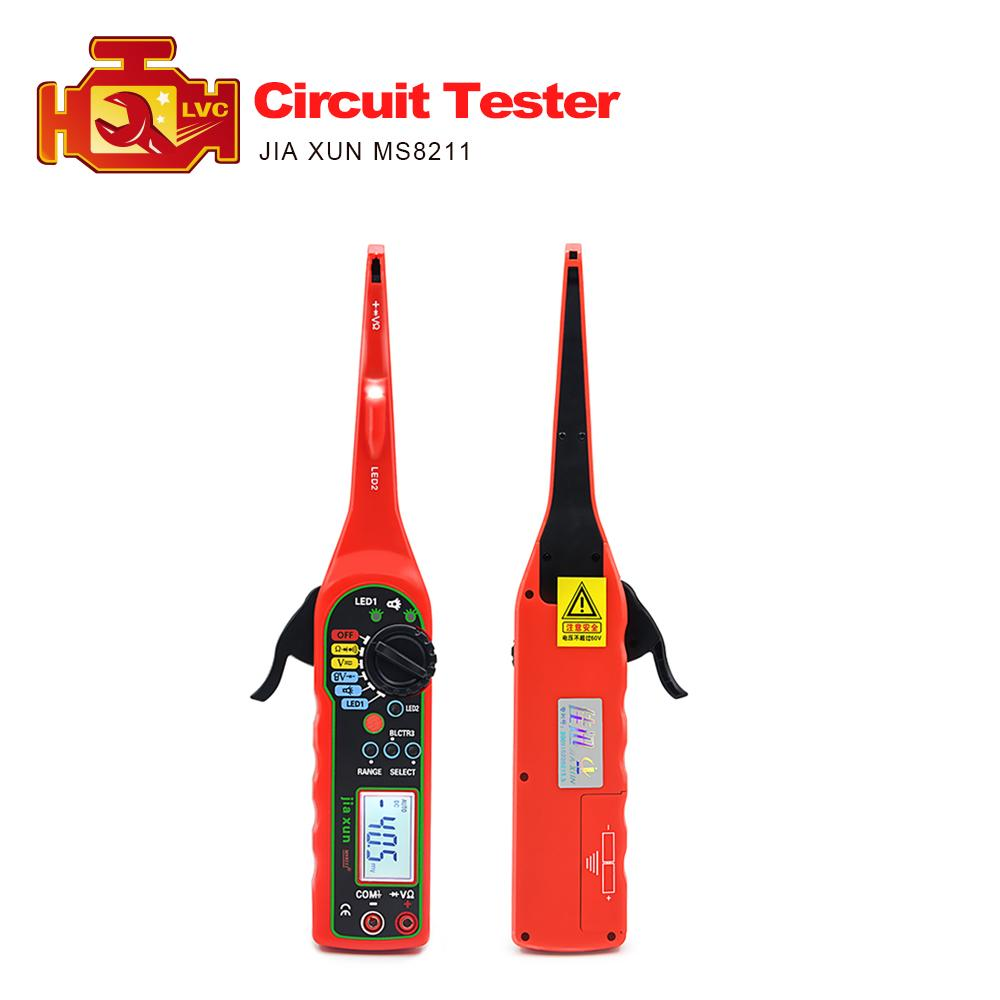JIA XUN MS8211 Automotive circuit tester Digital Multimeter (Voltage,resistance, diode, buzzer etc..) Function MS 8211 tester