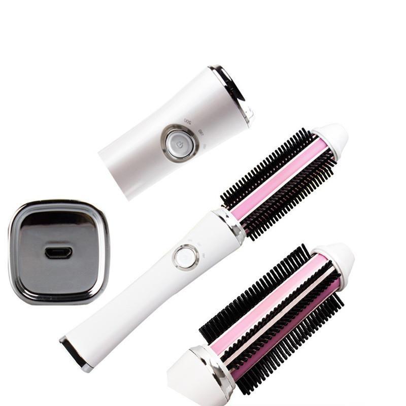 Raddrizzano i ferri capelli lisci carica USB pettine della spazzola ricaricabile bigodino di capelli che designano gli attrezzi multifunzione senza fili a pettine