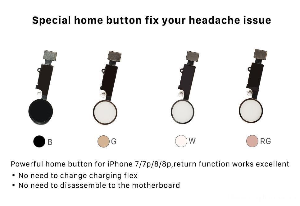 Universal Home Button Flex For iPhone 7 7p 7G 7plus 8G 8 8p 8plus Return Solution Fix fingerprint Unlock problem Touch Key ID