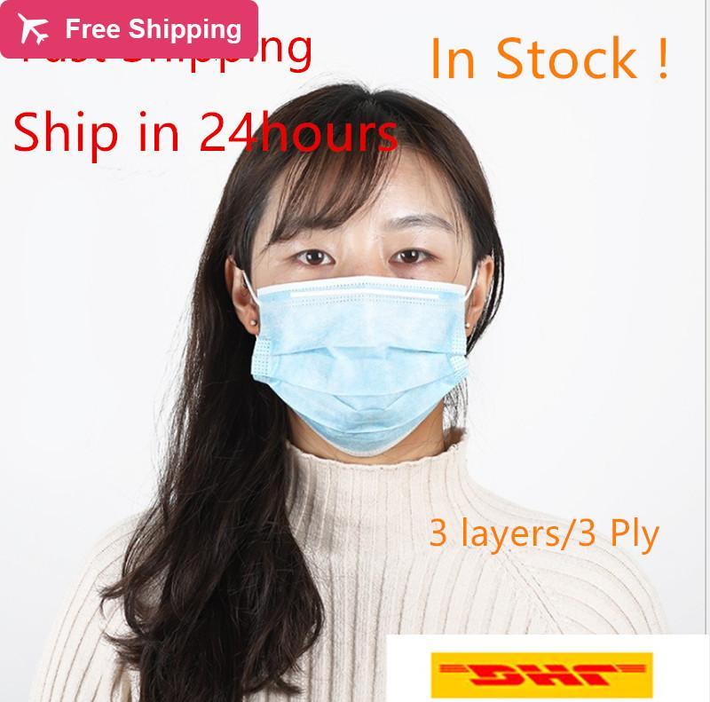WF6M visage jetable Profession bleu du visage protectiveer poussière civile Masque de protection sûr protecteurs pour blocage