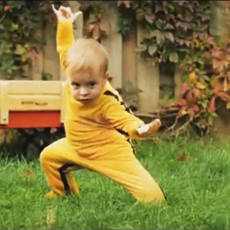 2018 Marke Neuheit Strampler Chinese Kongfu Bruce Lee Baby-Kleidung 0-24m 100% Baumwolle Superqualität Ropa Baby-Kostüm J190526