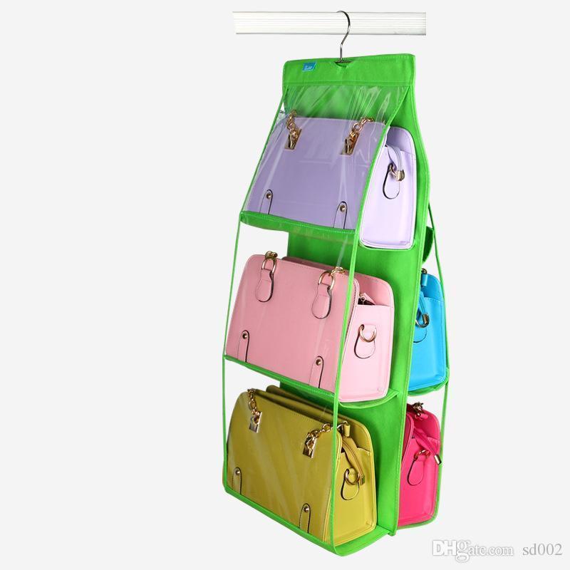 Пылезащитная настенная сумка подвесной тип ткани художественные сумки для хранения Складной органайзер шкаф красочная творческая сумка 10yc jj