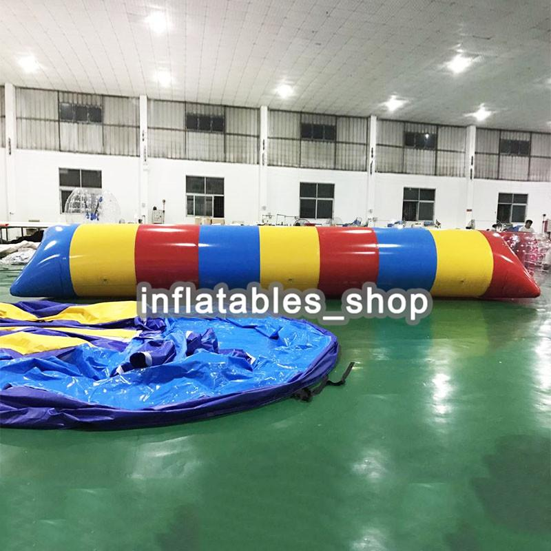 Free Shipping ! Free Pump ! 9x2m Water Inflatable Game Inflatable Water Blob,Aqua Blob Jump,Water Catapult Blob For Sale