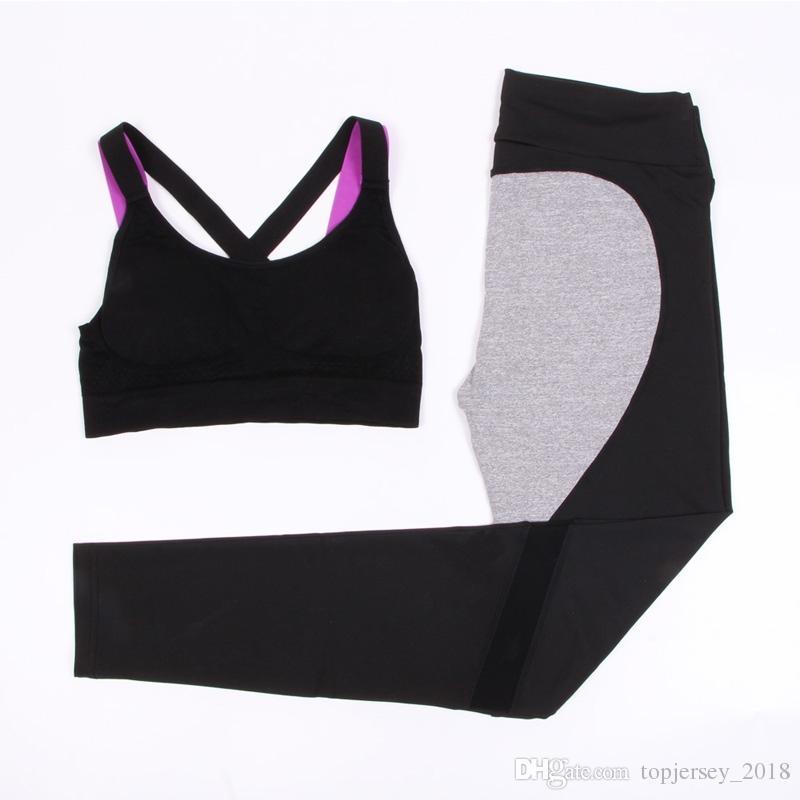 Sexy Gym Set Women Sports Bra Yoga Pant Sport Suit Women Sportswear Love Pattern Running Yoga Fitness Set Tracksuit for #74215