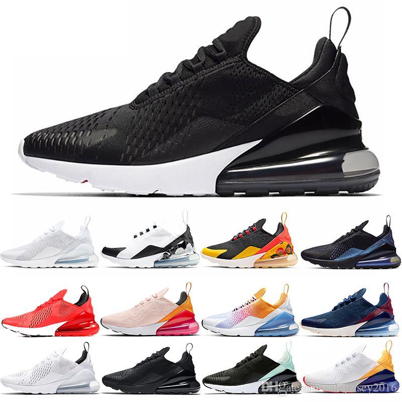 Nike Air Max 270 Top Chaussures De Course Hommes Femmes Noir Blanc Régence Violet Oreo CNY Bruce Lee Hommes Formateur En Plein Air Sport Sneaker Taille 36-45 Pas Cher Vente