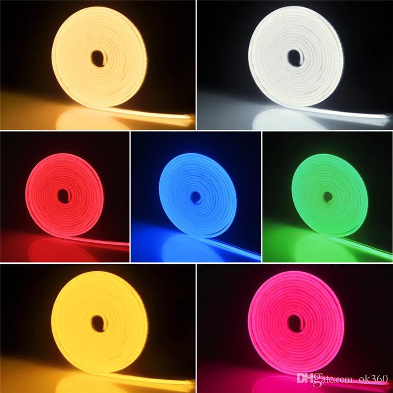 Oda Tatil Parti Noel Düğün Dekorasyon Açık Esnek neon lamba Teyp için 5M Peri LED Neon Burcu Işık Şerit 12V Neon Burcu