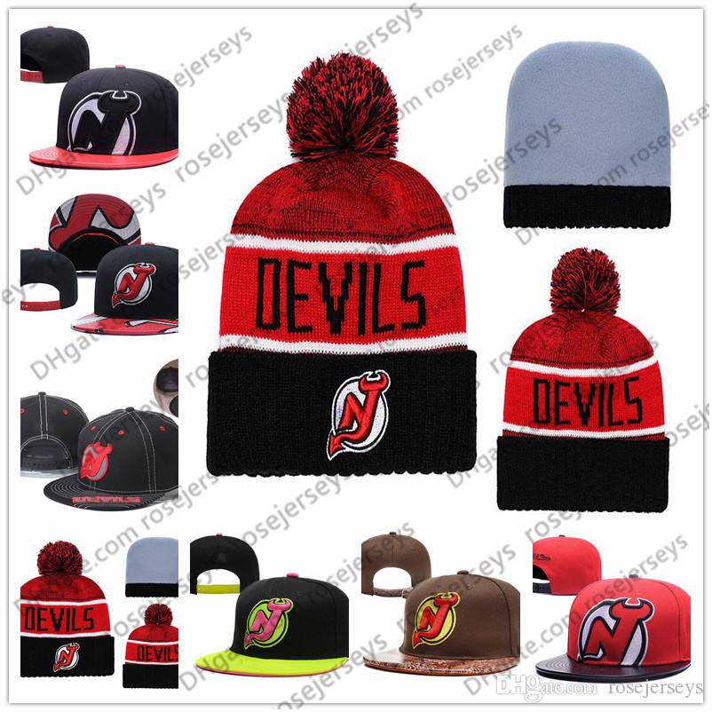 نيو جيرسي الشياطين هوكي الجليد حك بيني التطريز قابل للتعديل قبعة مطرزة snapback غطاء أسود أحمر براون مخيط القبعات واحد الحجم
