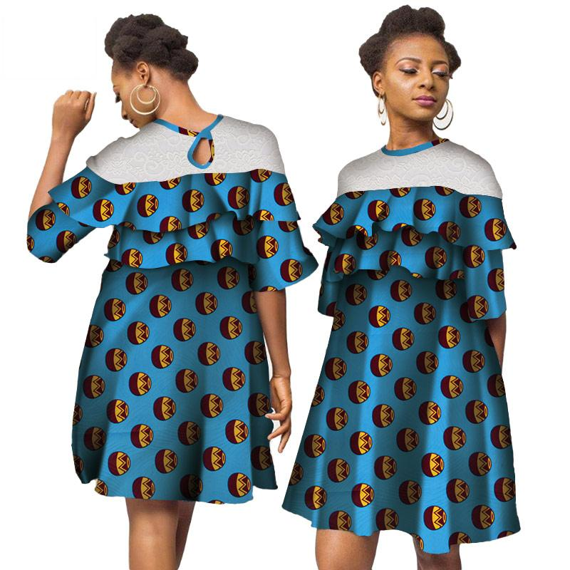 Africa Dresses For Women African Wax Print Dresses Dashiki Plus Size Africa Style Clothing for Women Office Dress WY3890