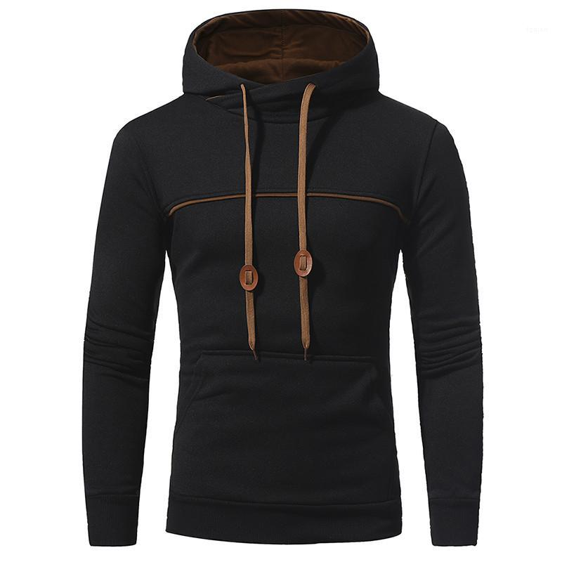 Hoodies Casual Мужчина Одежда Сплошного цвета Mens конструктора Толстовка мода Цвета рамка Большой Кармана Пуловер Mens