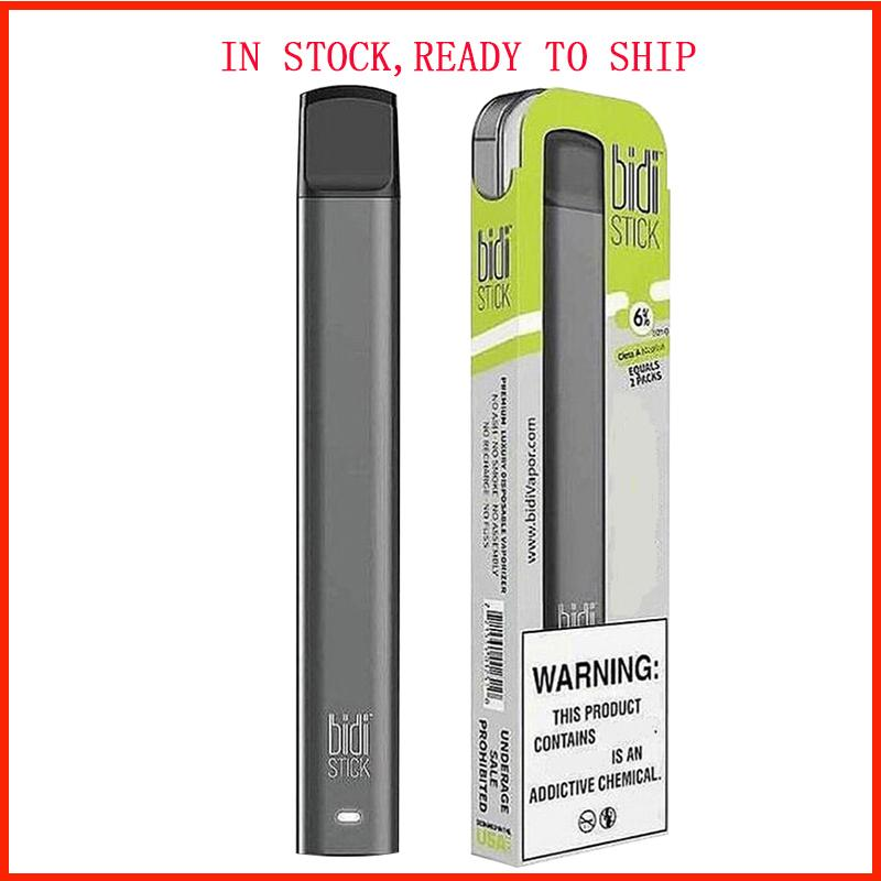 2020 BIDI STICK Einwegvorrichtung Pod Starter Kit 280mAh Akku 1,4 ml Patrone Vape leeren Plus-Pen