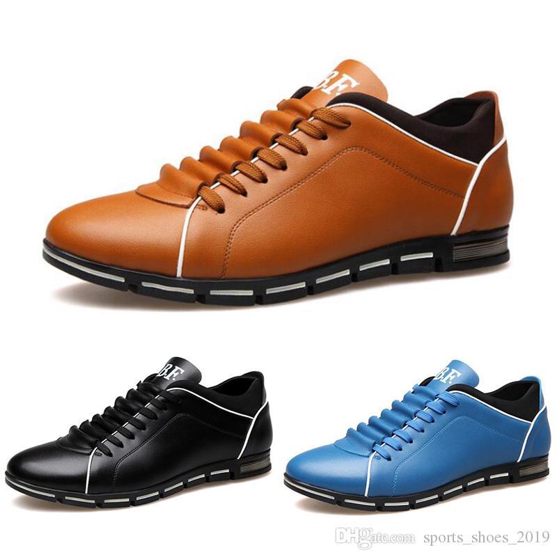 2020 chaussures gros hommes vin rouge noir mode brun DESIGNERS chaussures occasionnels dropshipping taille de la livraison gratuite 39-44 de style 112
