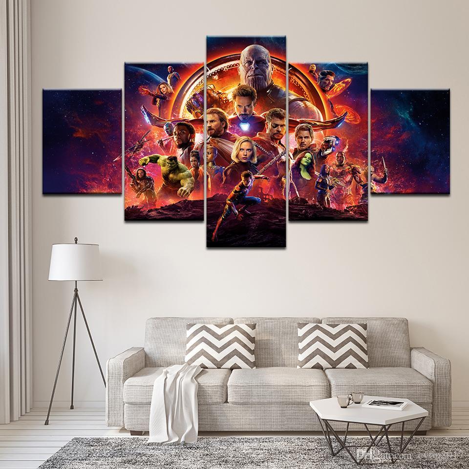 2018 الفيلم الساخن المنتقمون أعجوبة إنفينيتي الحرب ملصق قماش اللوحة طباعة الصورة ديكور المنزل جدار الفن لغرفة الجلوس