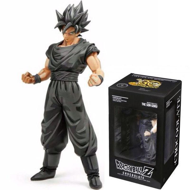 29 cm bola de dragón color del chocolate Super Saiyan Goku acción del PVC Figuras Anime de Japón juguetes de colección