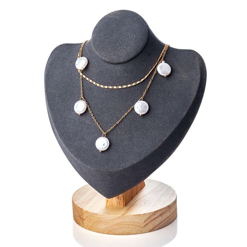 H: HYDE punk multi capa Gargantilla breve declaración collar de perlas Irreglar borla colgante de collar de la mujer joyería al por mayor